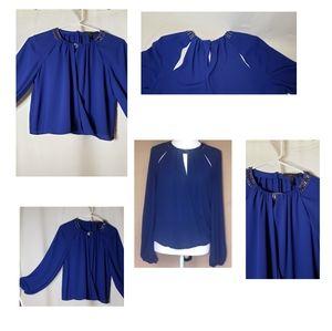 BCBG Maxazria blue blouse.